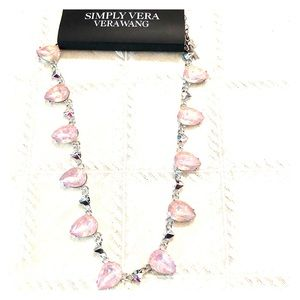 Simply Vera Wang Pink Crystal Statement Necklace